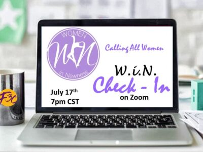July WiN Check In Flyer Banner